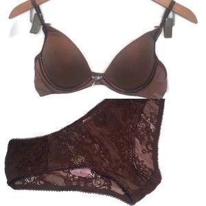 NWT Vanity Fair padded bra 36B & Sophie B brief,L